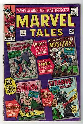 MARVEL TALES #3 1966 VGF Thor 84 ,spiderman 5 journey