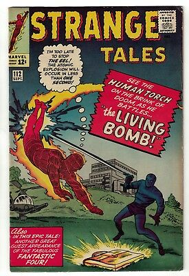 Marvel comics Strange tales 112  6.5 FN+ Human torch fantastic four living bomb