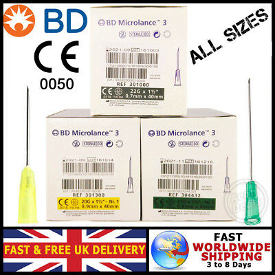 Needles | Sterile & Genuine  | Authentic Bd Microlance 3 | Value Packs |