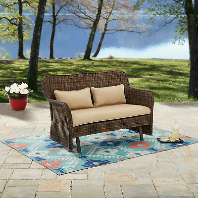 Better Homes And Gardens Camrose Farmhouse Outdoor Wicker Rocking