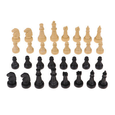 1.9inch Plastic Checker Spare Chess Pieces Board Game Accessories Pack of 32