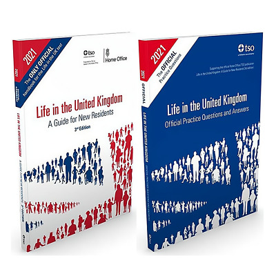 New Life in the UK United Kingdom 2020 - 2 Book Set British Citizenship Test-L+Q
