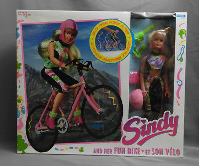 Sindy And Her Fun Bike Hasbro 1990's Original Unopened Box Doll Plus Accessories