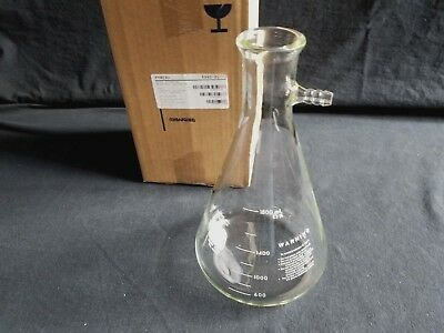 New Corning Pyrex Glass 2000mL 2L Heavy Wall Filter Flask, 5340-2L