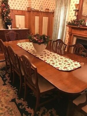 Antique Berkey and Gay Dining Set with Eight Chairs