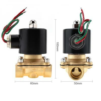 "1/2"" AC 220V Electric Solenoid Valve Pneumatic Valve Brass Body for Water/Oil"