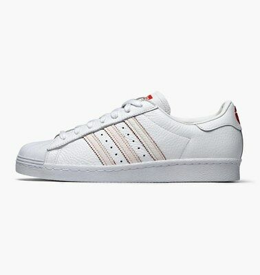 best website adb5b 3a340 ADIDAS MENS SUPERSTAR 80s Chinese New Year White Scarlet 2018 Year of Dog
