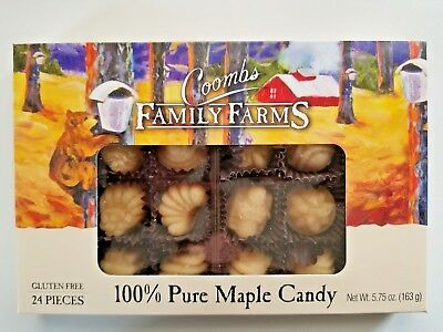 Coombs Family Farm 100% Pure Maple Candy, 24 piece box. GF, FREE SHIPPING