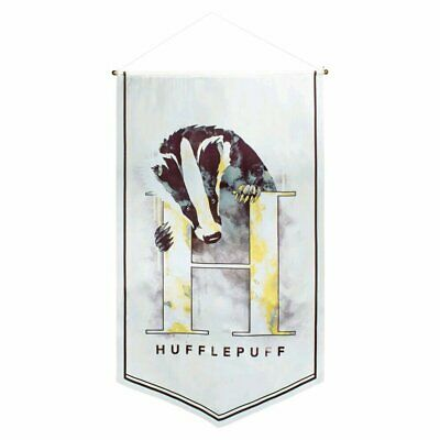 Harry Potter Hufflepuff Watercolour Satin Banner NEW