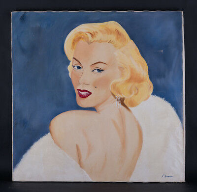 """Old Original Oil Painting """"Portrait Of A Lady"""""""