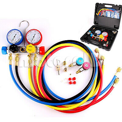 Ac Refrigerant Manifold Gauges HVAC Charging Service Set for R22 R410a R404a