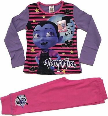 Official Girls Disney Vampirina Pyjamas Pajamas Pjs Kids Children's 3 4 5 6 8