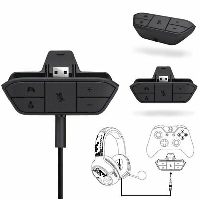 Stereo Headset Headphone Audio Game Adapter For Microsoft Xbox One Controller BU