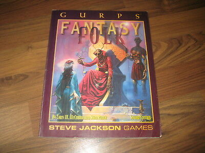 GURPS 3rd Edition Fantasy Folk Second Edition 1995 Softcover Steve Jackson Games