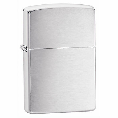 Zippo Lighter 200 Brushed Chrome Windproof Classic Theme NEW FAST FREE SHIPPING!