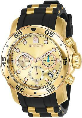 Invicta Men's 17884 Pro Diver 18k Gold Ion-Plated Stainless Steel Chronograph