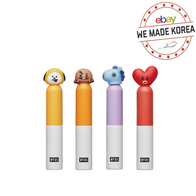 BTS BT21 X VT COSMETIC Glow Lip Lacquer 4 Colors Official K-pop Authentic Goods