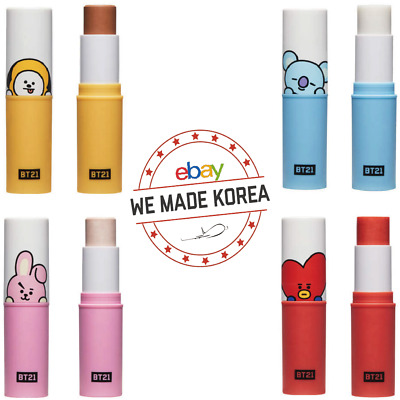 BTS BT21 X VT COSMETIC Fit on Stick 4 Types Highlighter Cover Shading Primer