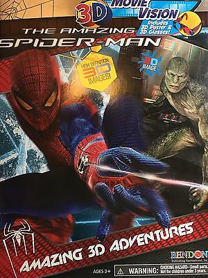 Amazing Spiderman Movie Vision Adventures 3D Glasses Bendon Paperback NEW