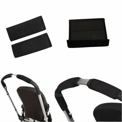 Black soft Fabric Handle Cover Chassis To fit Orbit Baby Child strollers NEW