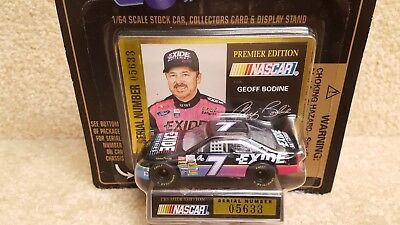 New 1995 Racing Champions 1:64 NASCAR Geoff Bodine Exide Ford Thunderbird #7 a