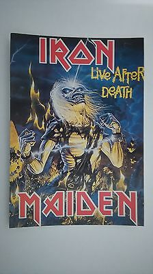 Iron Maiden Live after death vintage music postcard POST CARD