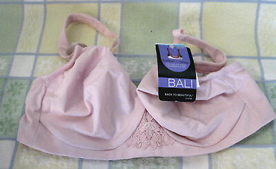 ae097c19f8a11 NWT BALI BACK To Beautiful Beige Full Support Underwire Bra 42D 3231 ...