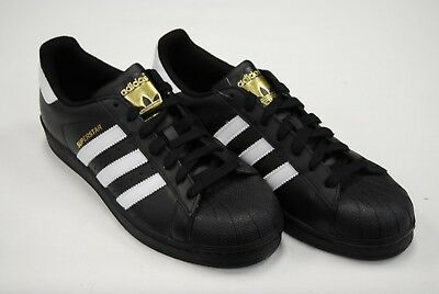 [B27140] New Men's Adidas Originals Superstar Foundation Black White Blk Adm281