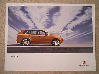 2007 Porsche Cayenne GTS Showroom Advertising Sales Poster RARE!! Awesome L@@K