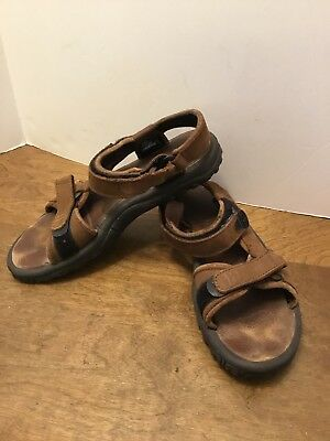 accbb2c3c00c16 ... Womens Teva Pretty Rugged Brown Leather Sandals Sz 8 Style 1370 Leather  Footbed the best 383d6 . ...