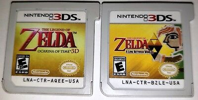 The Legend of Zelda Ocarina of Time 3D & A Link Between Worlds (GAMES ONLY!)