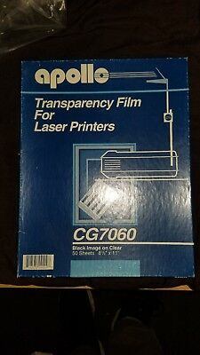 Apollo CG7060 Transparency Film 8 1/2 x 11 in. 35 Sheets for Laser Printers
