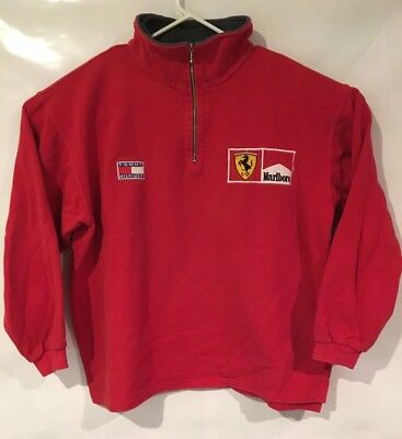Tommy Hilfiger Ferrari Jacket Marlboro Vtg Red Grand Prix Racing Mens Size-Large