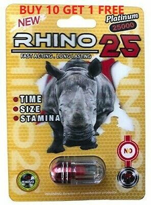 RHINO 25 Platinum 25000 Male Sexual Enhancement Supplement - 1 Capsule