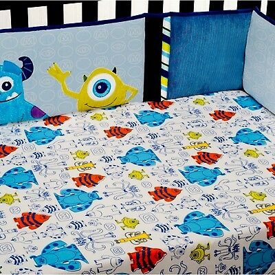 Disney Baby Monsters Applique Crib Bumper Only Mike - Sulley - Discontinued