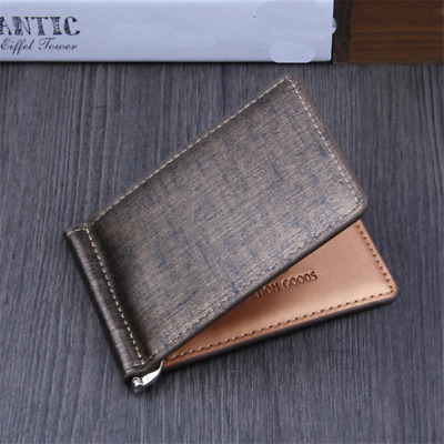 Credit Card Holder for Men Women, Bifold PU Leather Business Small Slim ID G