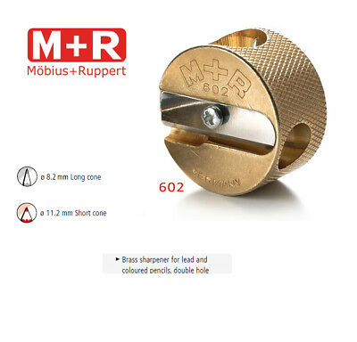 Mobius and Ruppert (M+R) 0602 - DOUBLE ROUND CONE SHAPED BRASS Pencil sharpener
