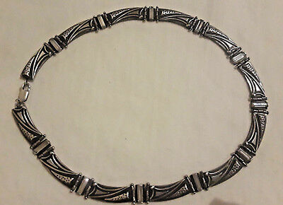 Vintage European handcrafted Sterling Silver 925 Heavy Necklace 17 inches 50 gr