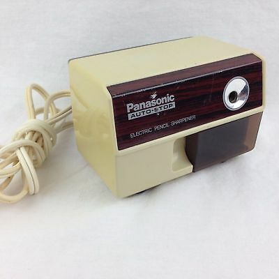 Panasonic Electric Pencil Sharpener Auto Stop Model KP-110 Beige Made In Japan