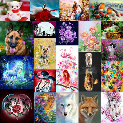 DIY 5D Diamond Painting Animals Beauty Embroidery Cross Crafts Stitch Home Decor