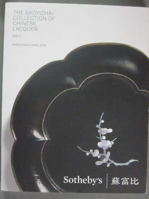 Sotheby 4/8/14 The Baoyizhai Collection of antique Chinese Lacquer