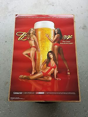BRAND NEW Budweiser Sports Illustrated SI Hot Girls Bikini Poster Beer Glass