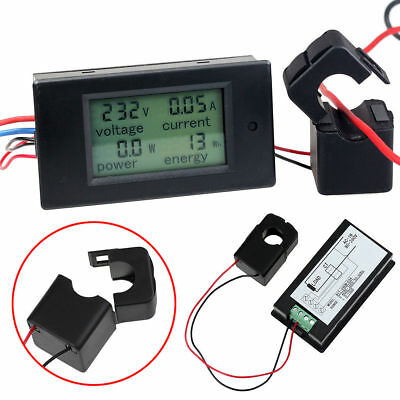 AC 80 ~ 260V LCD Digital Volt Voltage Watt Current Power Meter Ammeter Voltmeter