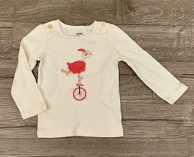 "NWT Gymboree /""Star of the Show/"" 4th of July Shirt Baby Girls 18-24 M $15.95"