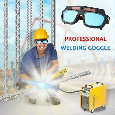 Black Welding Cutting Safety Goggles Glasses Dark Auto Darkening Q5T4