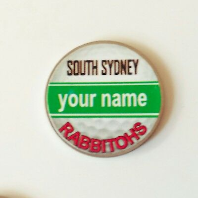 anneys - your OWN PERSONALISED  ** Rabbitohs ** golf ball marker!!