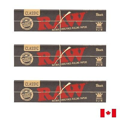 RAW Classic Black King Size Slim Rolling Papers - 3 Booklets