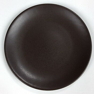 "Hoganas Keramiks Nilsson 7-3/4"" Brown Salad Plate SET OF 4"