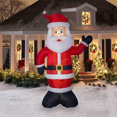Gemmy Industries Airblown Christmas Decor Indoor / Outdoor Inflatable Santa, 10'