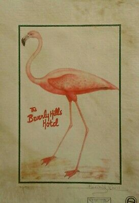 'The Beverly Hills Hotel, Flamingo#1 Artist Proof Print, Signed Fairchild Paris